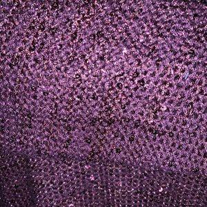 Glitzy plum sweater